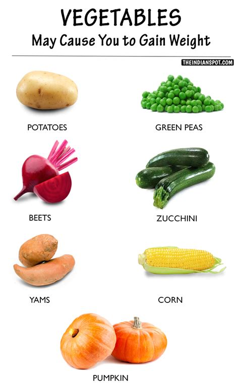 how to make a gain weight the list of vegetables that may cause you to gain weight theindianspot