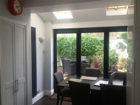 2390 x 2090 Grey Aluminium Bi folds   Folding Doors 2 U