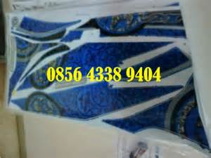 Stiker Jupiter Z Variasi Hitam Biru yamaha new jupiter mx 5 speed model batik irawan
