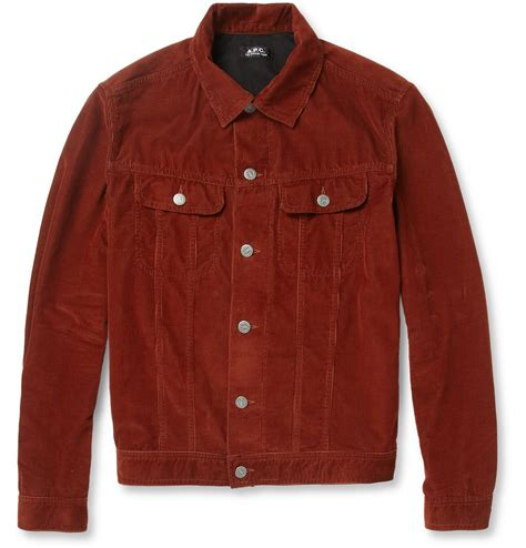 Corduroy Jacket lyst a p c slimfit corduroy jacket in for