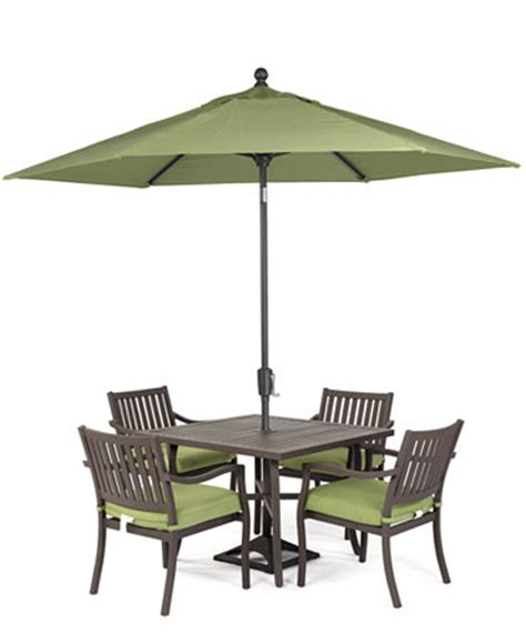 Macys Patio Dining Sets Outdoor 5 Set 40 Quot Square Dining Table And 4 Dining Chairs Furniture Macy S