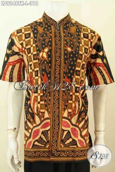 desain baju batik lelaki batik hem kerja motif klasik desain kerah shanghai baju