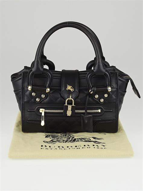 Burberry Quilted Leather Satchel by Burberry Black Quilted Leather Mini Manor Bag Yoogi S Closet