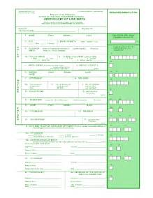 Certificate Of Live Birth Template by Blank Birth Certificate Form Templates Fillable