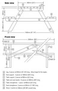 picnic table plans outdoor ideas
