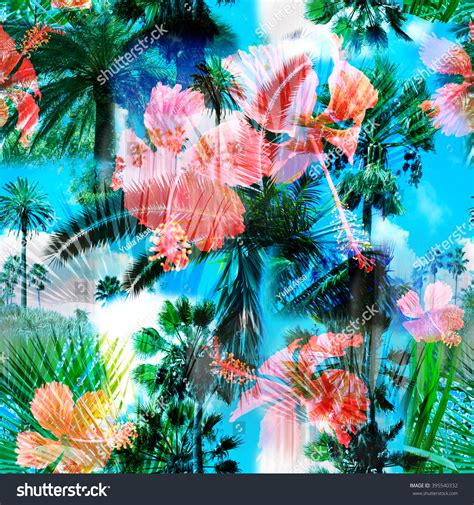 colorful palm trees colorful palm trees seamless pattern colorful background