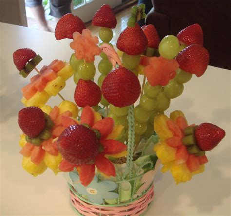 fruit flower foodspiration baby shower food ideas fruity flowers