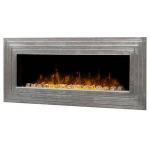 wall fireplace electric dimplex ashmead antique silver linear wall mount electric