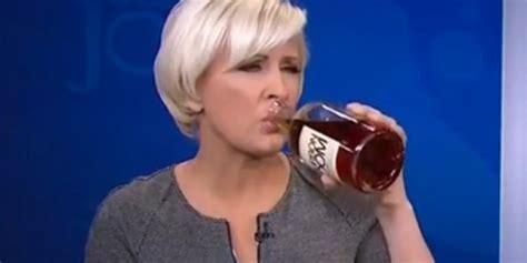 mika brzezinski hot mika brzezinski tries bourbon on morning joe and hates