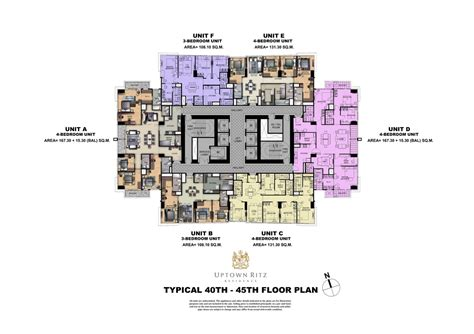penthouse layouts uptown ritz residence fort bonifacio global city condos