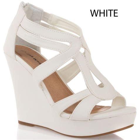 white wedge high heels white high heel wedges 28 images new white wedge heel