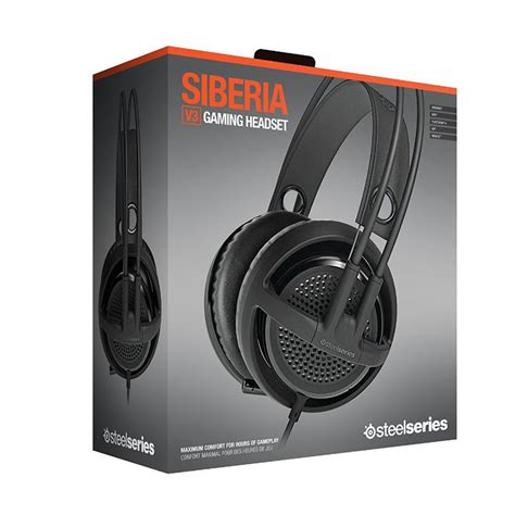 Dijamin Steelseries Siberia V3 Black هدست گیمینگ هدست بازی استیل سریز steelseries siberia v3 black