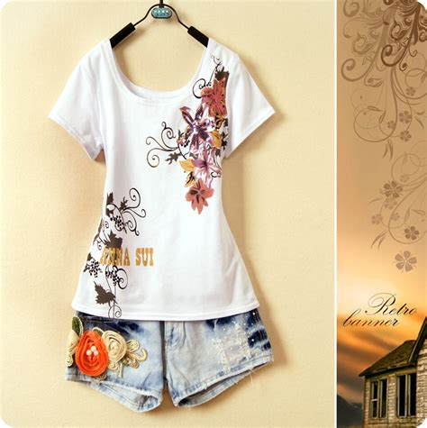 floral pattern t shirt new ladies style t shirt floral pattern bottoming shirt