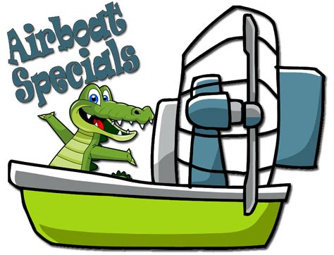 airboat cartoon black hammock adventures