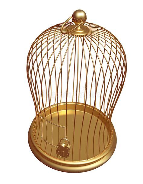 la gabbia la gabbia dell oro chiusa sulla serratura illustrazione di