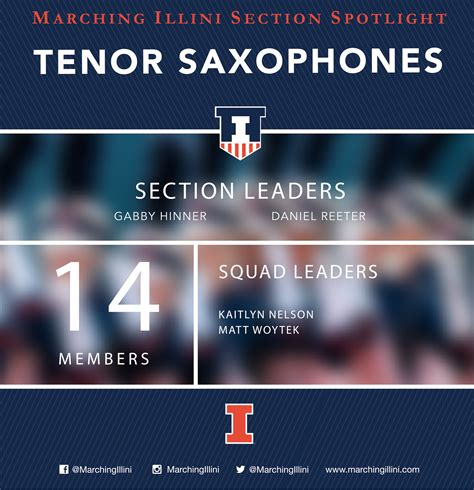 spotlight section marching illini section spotlight the tenor saxophones