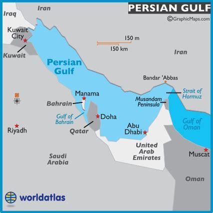 gulf map map of gulf gulf map location facts gulf history world atlas