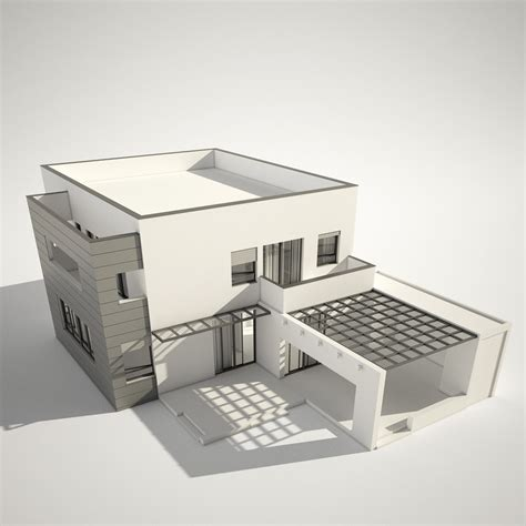 3d house 3d modern contemporary house
