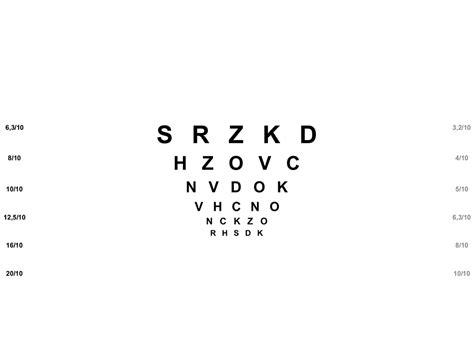 tavole ottotipiche sensibilit 224 al contrasto