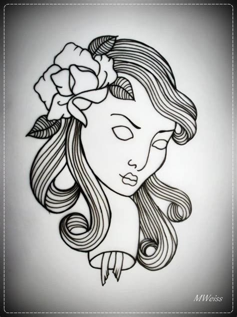 tattoo flash girl 24 best girl tattoo outlines images on pinterest tattoo