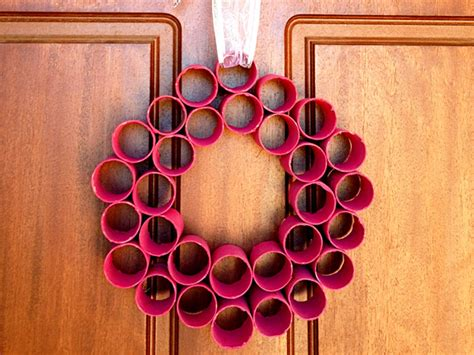 Home Made Decor by Homemade Christmas Decorations Paper Roll Wreath