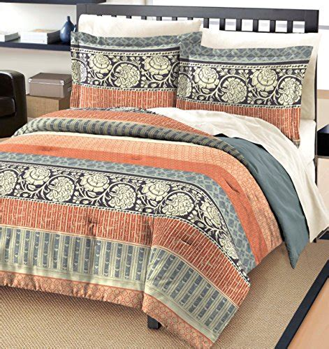 free spirit flora cotton comforter and sham set gray queen
