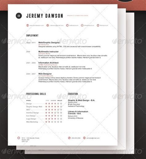 modern professional resume templates 25 modern and professional resume templates ginva
