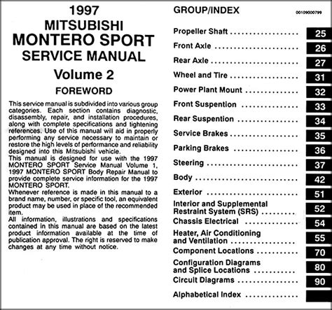 free online auto service manuals 1997 mitsubishi montero sport parental controls 1997 mitsubishi montero sport repair shop manual set original