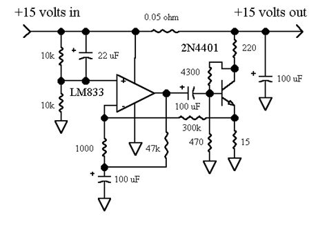 shunt resistor op finesse voltage regulator noise