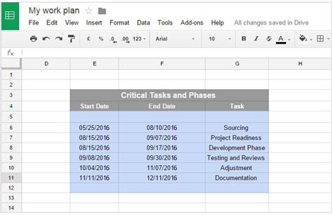 Office Timeline Gantt Charts In Google Docs Docs Project Timeline Template