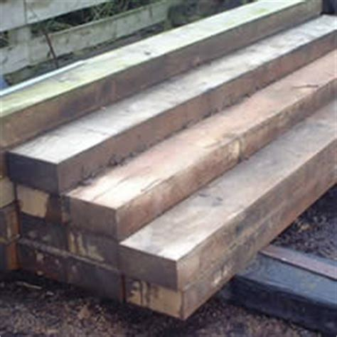 New Hardwood Sleepers by Topsoil Products Reclaimed New Railway Sleepers