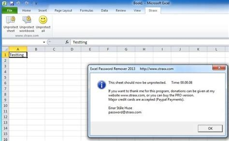 remove vba password xls how to remove crack or break a forgotten excel xls password