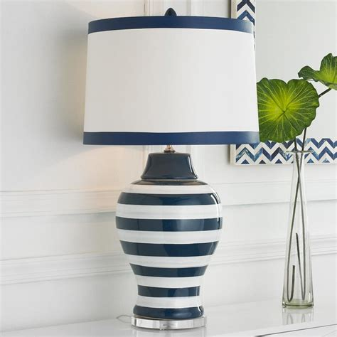 Navy Blue And White L Shade by Navy White Stripe Table L L Shades By Shades