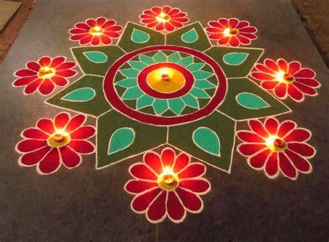 design flower rangoli diwali award winning rangoli designs for diwali with diya
