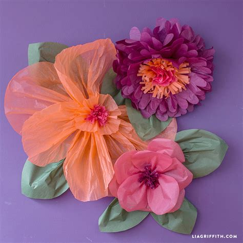 Handmade Flowers From Tissue Paper - diy flower decorations diy wedding ideas tissue paper