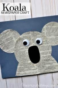 Koala Paper Plate Craft - newspaper koala craft i crafty things
