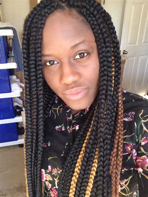 styling with big braids big box braids protective style natural hair pinterest