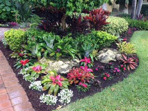 Tropical Bromeliad Garden Design Landscape Designs Florida Gardening Ideas