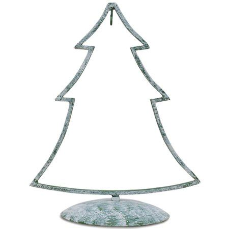 12 christmas tree stand 12 quot green tone iron metal tree ornament stand walmart