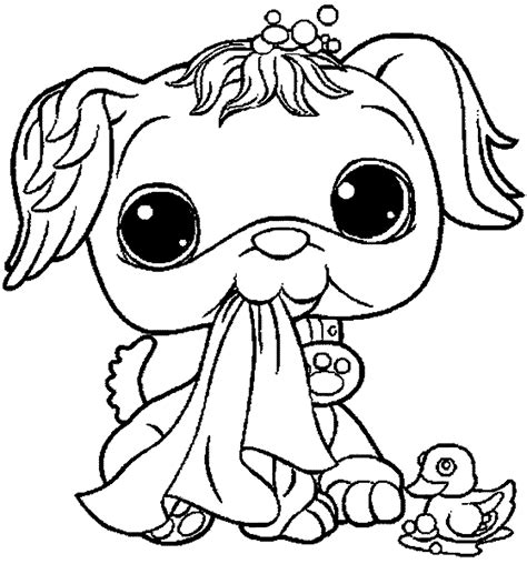 coloring pages vip pets littlest pet shop coloring pages printable many