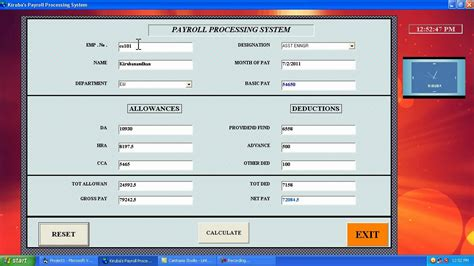 payroll database design visual basic payroll processing mp4 the link is http
