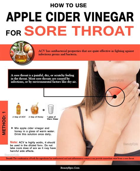 6 effective ways to use apple cider vinegar for sore throat