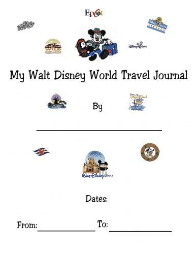 printable disney journal pages 51 best images about 2018 gs disneyworld on pinterest