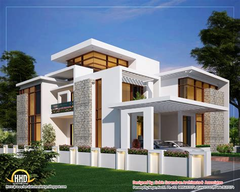 Contemporary Home by 6 Awesome Dream Homes Plans Indian Home Decor