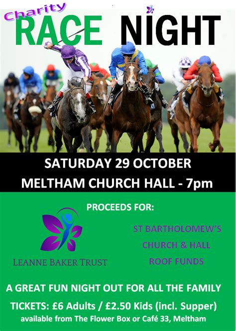 printable race night tickets charity race night fun for all ages parish of christ