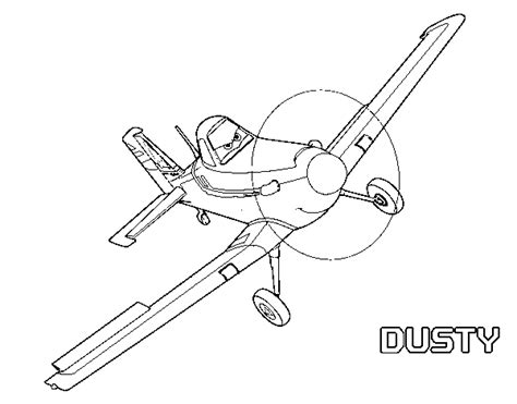 Plane Dusty Coloring Pages Dusty Colouring Pages