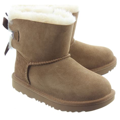 ugg bailey bow mini 2 boots in chestnut in chestnut