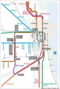 Chicago El Map Blue Line by Cta Blue Line Route For Pinterest