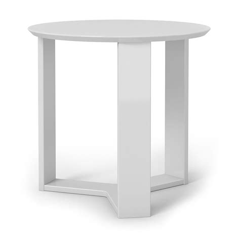 Modern White End Table by Markel Modern White End Table Eurway Furniture