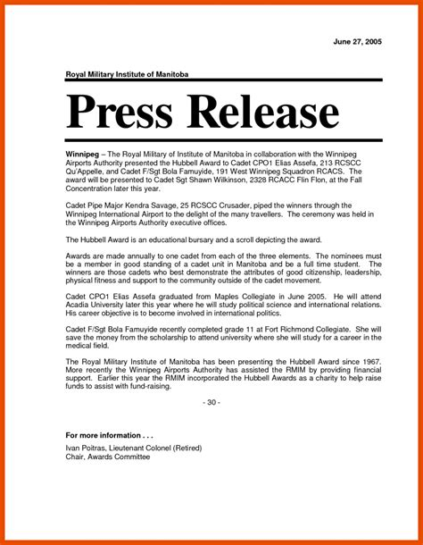 ap press release template 6 7 press release format sopexle